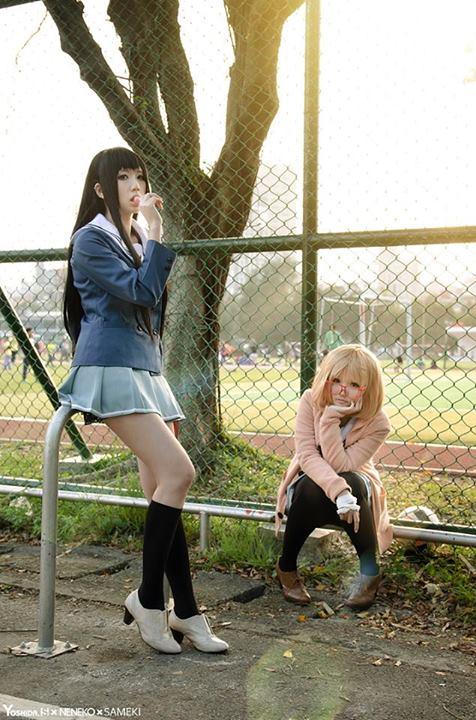 [Cosplay] Mirai & Mitsuki - Kyoukai no Kanata  (15)